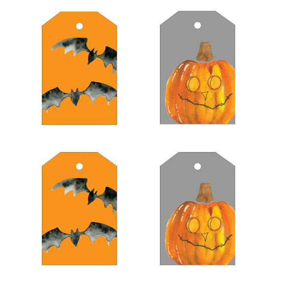 Halloween watercolor gift tags  sc 1 st  The Aloha Studios & Halloween watercolor gift tags u2013 The Aloha Studios